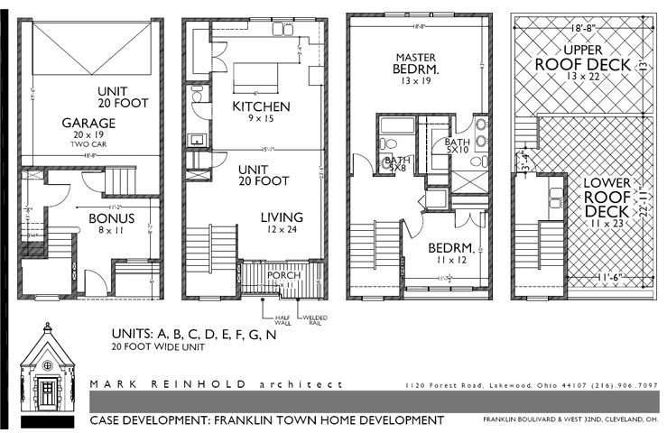 Townhomes Downtown Cleveland Ohio City Floor Plans