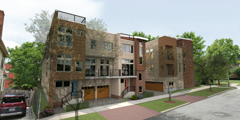 rendering of the Townhomes at the hinge